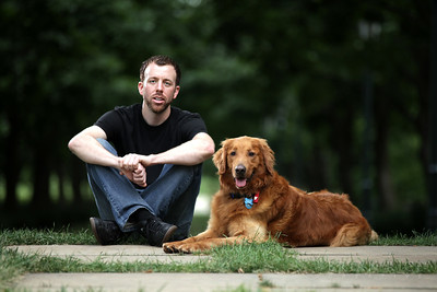 Zach and his dog Luke