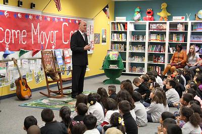Mayor John Cook Visits Hurshel Antwine Middle School