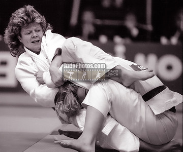 1989 Belgrade Worlds 19891013A1514 Hughes: Great Britain's Ann Hughes GBR defeated Kate Donahod of the USA by a decision on her way to the 56kgs silver medal.....