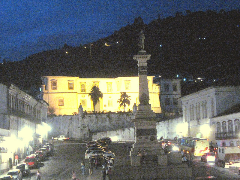 View toward the town center and the statue of Tiradentes, leader of rebels against Portuguese colonists, the only rebel to be executed (c. 1822).