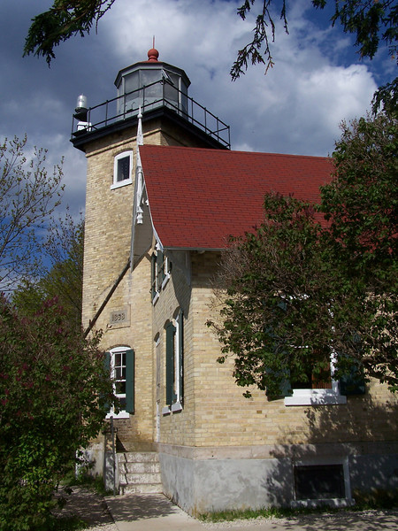 Eagle Bluff Lighthouse in Peninsula State Park, Door County, Wisconsin.