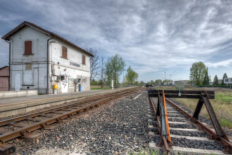 Train Station - San Giacomo, Guastalla, Reggio Emilia, Italy - March 31, 2012