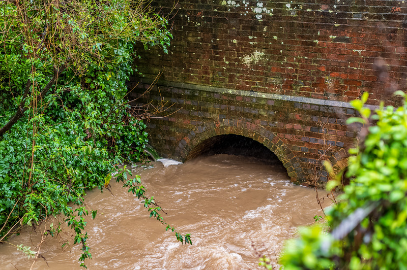 High water level under the High Street
