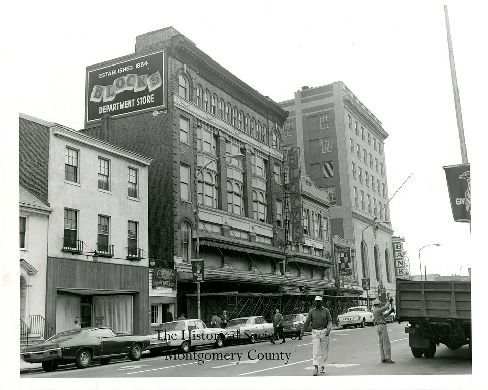 . This photo from the Historical Society of Montgomery County shows Blocks Department Store in Norristown in the late 1960s.