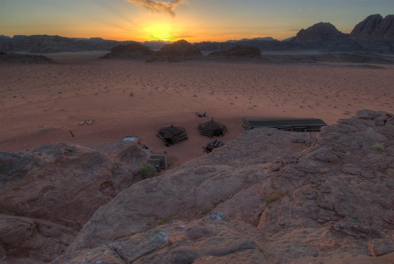 Sunset in Wadi Rum, Jordan