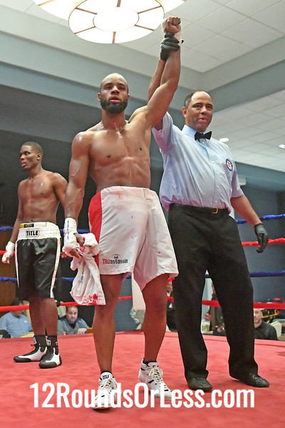 Pro-Bout 4 Marcus Washington, Red-White Trunks, Cleveland -vs- Lavelle Hadley, Black-White Trunks, Youngstown, Middleweights