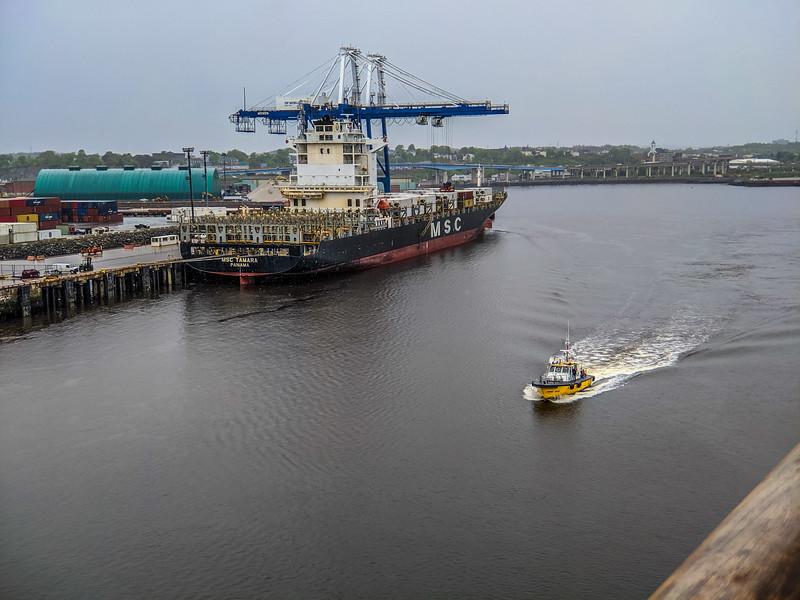 Bustling activity in port in Nova Scotia