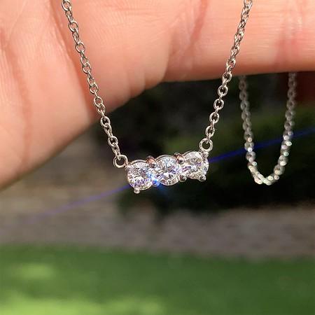 .74ctw Round Diamond Trilogy Pendant