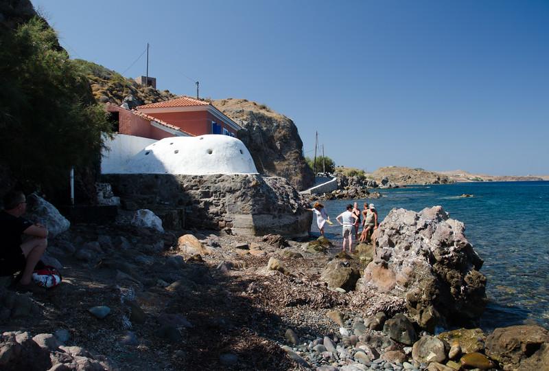 Eftalau Hot Springs, Lesvos, Greece.