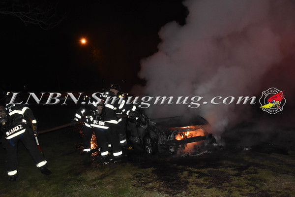 Wantagh F.D. Car Fire  EB Exit ramp to NB Wantagh Avenue 4-29-18