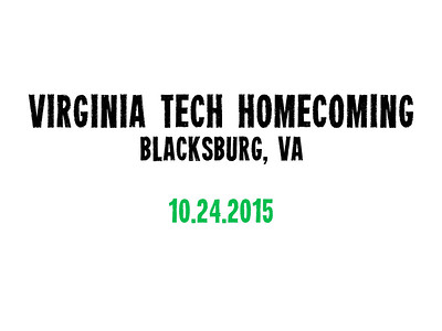 Virginia Tech Homecoming Dance 2015