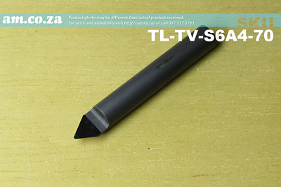 TL-TV-S6A4-70 , 6mm 70° V-Profile Tungsten Carbide Stone Carving Router Bit with 0.4mm Tip, Full Length ⩾40mm
