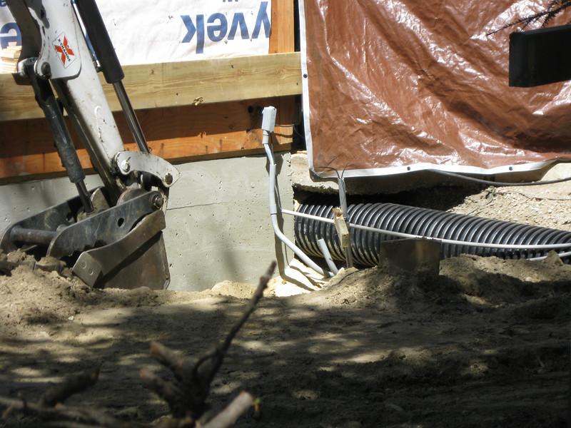 Escavations for utilities?