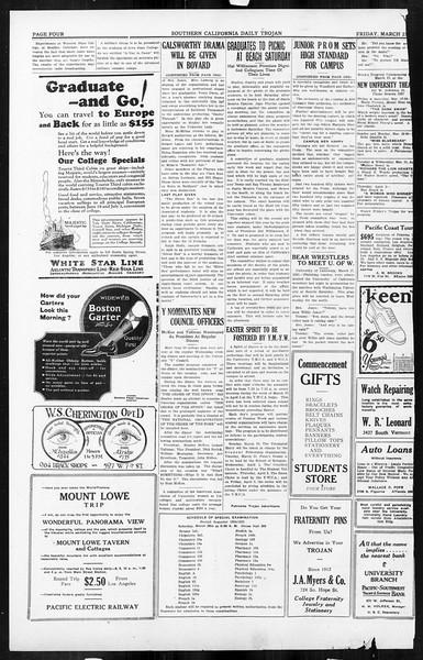 Daily Trojan, Vol. 16, No. 77, March 27, 1925