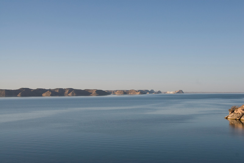 Serene lake outside Abu Simbel - Egypt