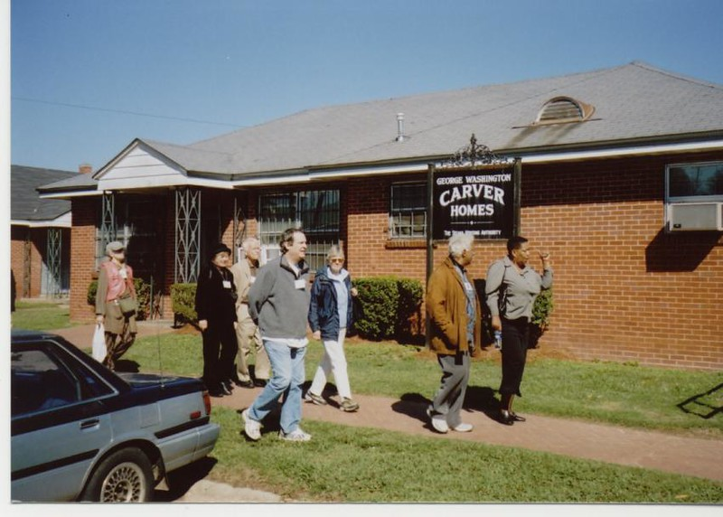 Princeton group outside Carver Homes - Bob Durkee