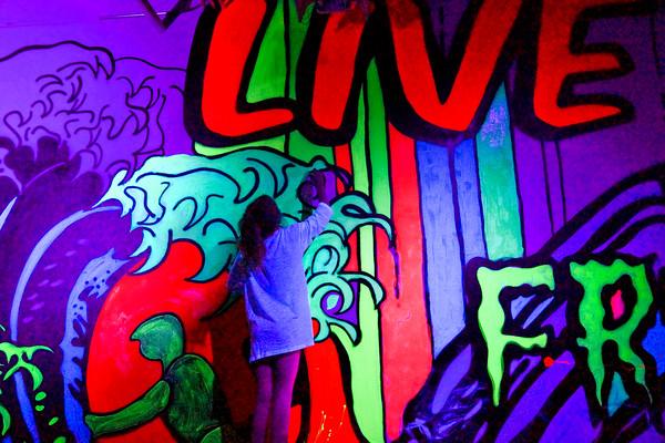 Studio Waveland's electrifying Phosphorescence & Fluorescence show - opening reception