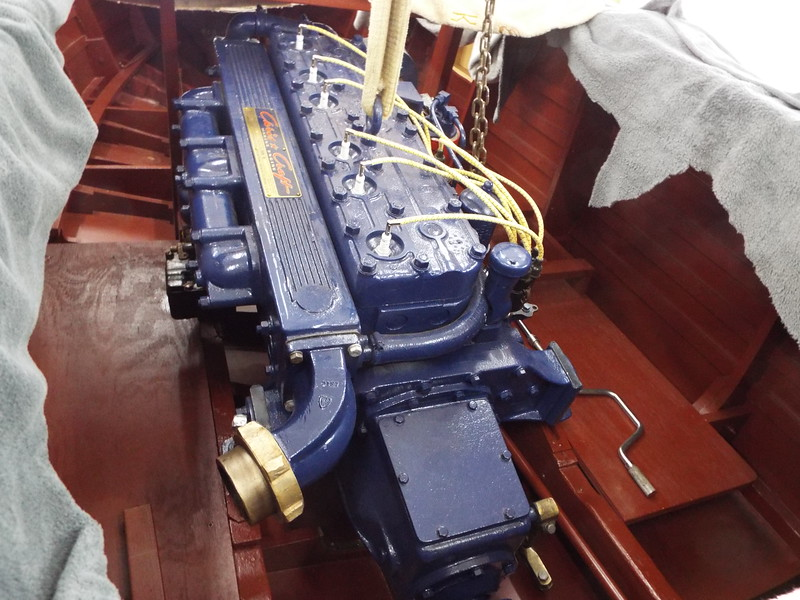 Another picture of the engine in the boat.