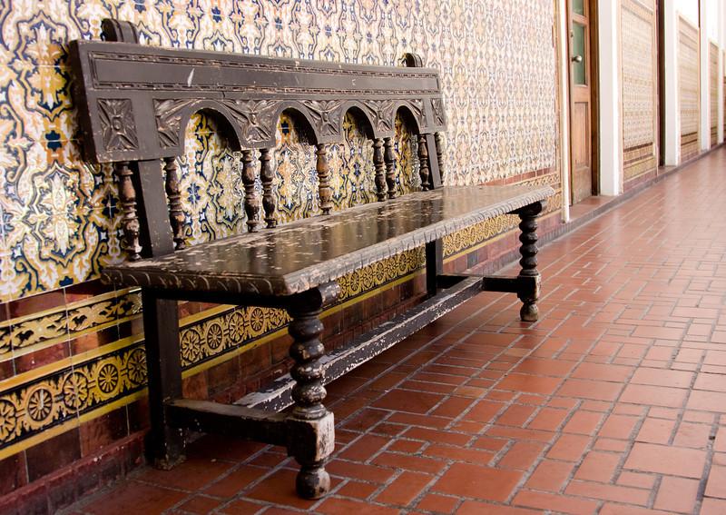 Bench, Casa de Espana, San Juan, Puerto Rico