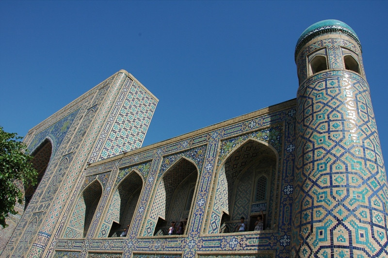 Balconies at Registan - Samarkand, Uzbekistan