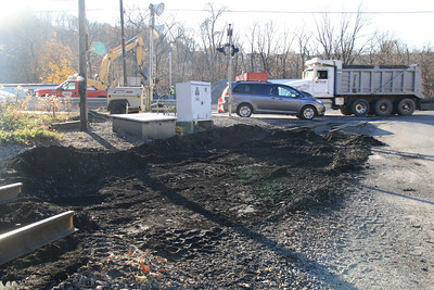 Start of SR309 Railroad Replacement, Center St, Tamaqua (11-18-2011)