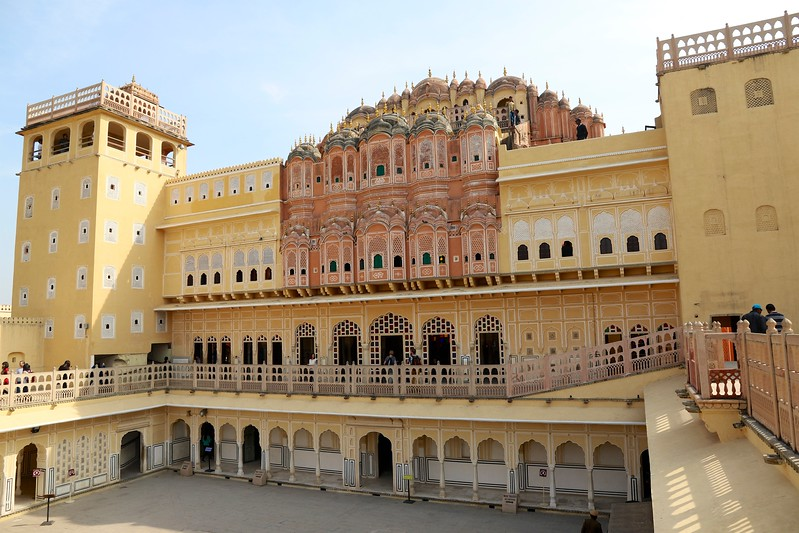 Inner courtyard - Hawa Mahal, Jaipur