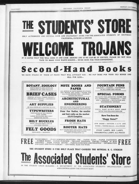 Daily Trojan, Vol. 23, No. 2, September 14, 1931
