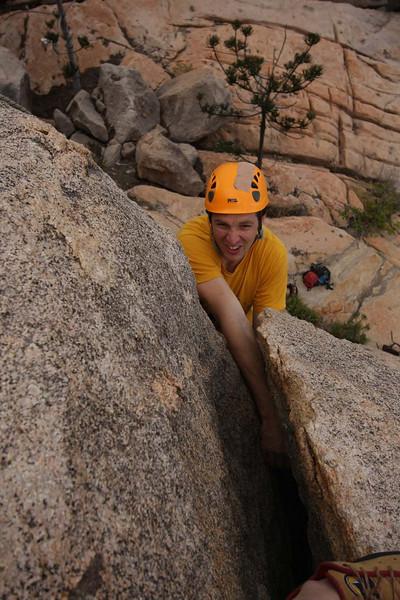 Adam Freeman climbing at Magnetic Island. Photo by Trent Williams