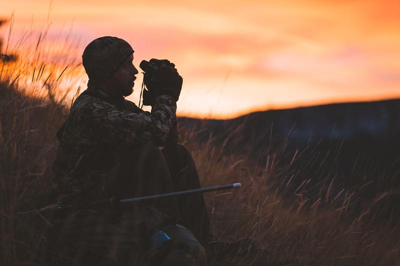 Austin Heinrich hunting Mule Deer in Idaho, November 2018