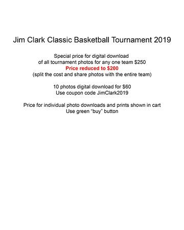 Tournament Pricing