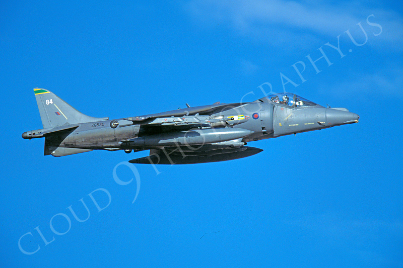 BAE Harrier 00010 BAE Harrier British RAF ZG530 September 2000 by Peter J Mancus.JPG
