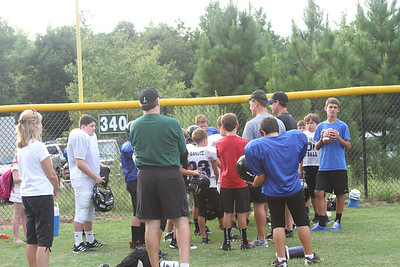 Ramsey's 5th grade Falcons First Practice 8/1/11