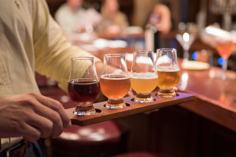 beer flight at bar.jpg