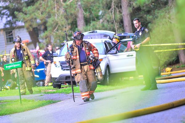 Three-alarm fire in Brattleboro