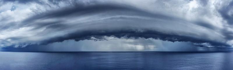 Sturmfront | Frontal thunderstorm, Karibik | Caribbean Sea