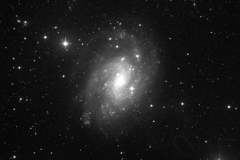 C70 - NGC300 - Sculptor Spiral Galaxy - 28/9/2019 (Processed single Luminance image)