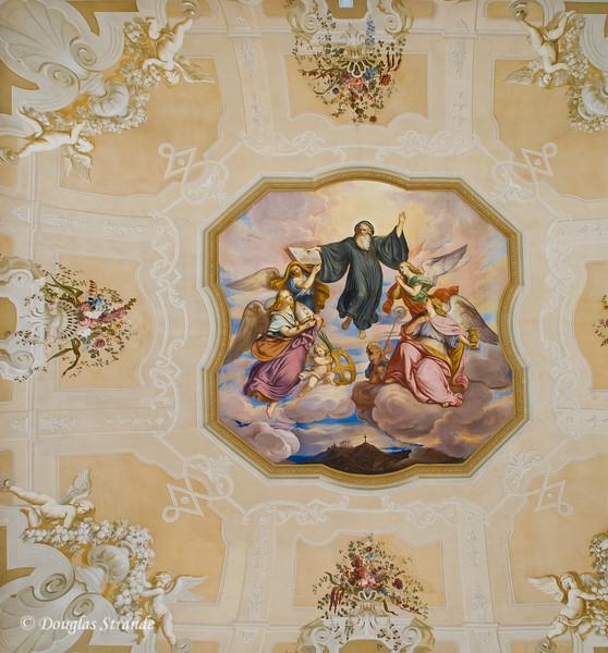 Ceiling art at Melk Abbey