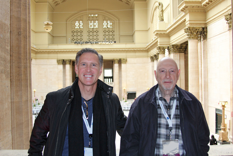 6-Naphtali Knox and Al Savay at Union Station (Al's camera, unknown photographer)