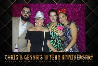 Chris & Gemma's 10 Year Anniversary - 9th Aug 2019