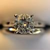 0.78ct Round Brilliant Diamond Bridal Set by Cartier 16