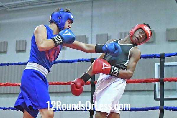 Bout #10:  John Savilla, Blue Gloves vs Marshaun Heard, Red Gloves, 1-1/2 min. rds.