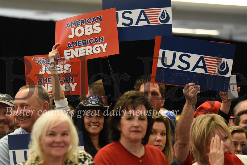 Crowd for President Donald Trump speaking at shale conference in Pittsburgh 10/23/19. Seb Foltz/Butler Eagle