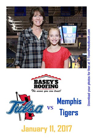 TU vs. Memphis - January 11, 2017