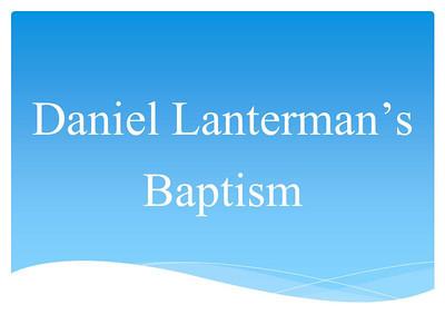 Daniel Lanterman's Baptism