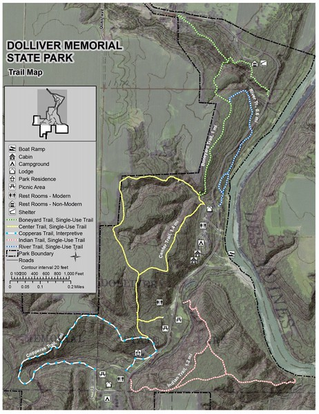 Dolliver Memorial State Park (Trail Map)