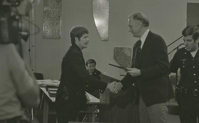 Mayor Hudnut Presents IPD Awards at City-County Council Chamber, Circa 1977, Img. 8