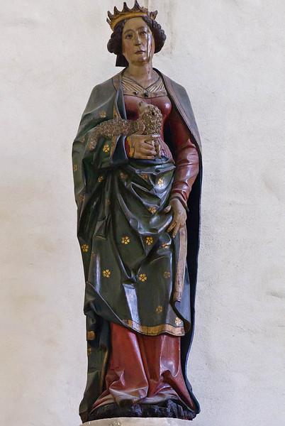 Merseburg, Dom, Vorhalle, hl. Agnes (um 1520)