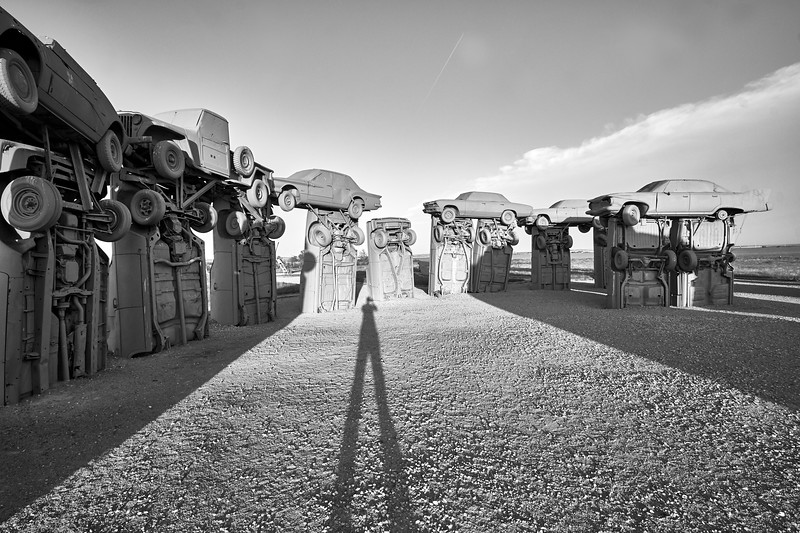 Photographer at Carhenge