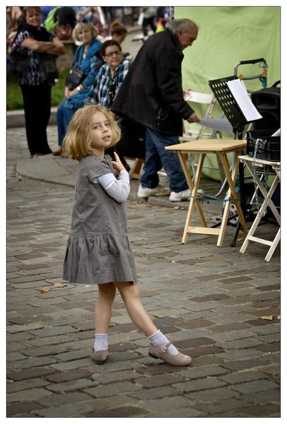 Young dancer at Rue Mouffetard Market