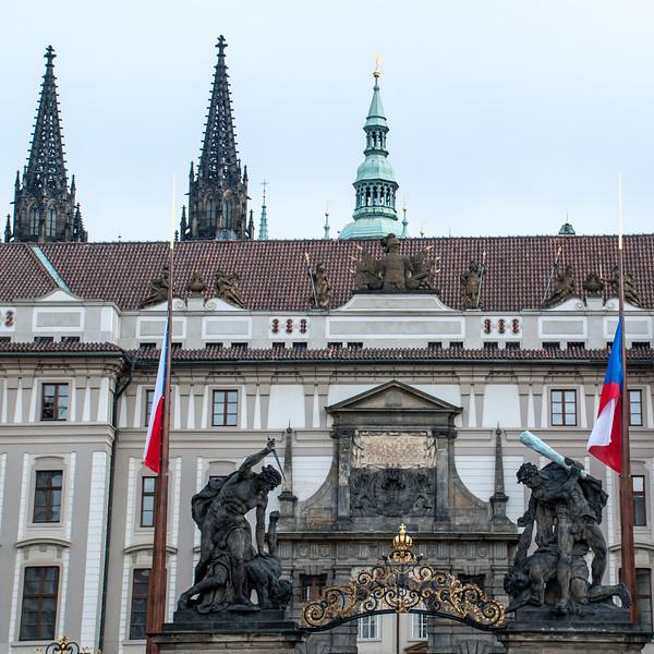 Outside Prague Castle